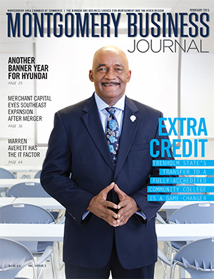 February 2015 MBJ, Montgomery Business Journal, Montgomery Chamber, Trenholm State Community College, Sam Munnerlyn