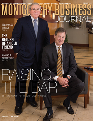 February 2016 MBJ, Montgomery Business Journal, Montgomery Chamber, Goodwyn, Mills & Cawood