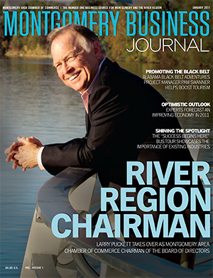 January 2011 MBJ, Montgomery Business Journal, Montgomery Chamber, Chamber Chairman Larry Puckett, Larry Puckett Chevrolet