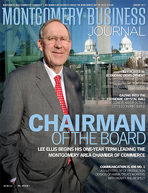 January 2012 MBJ, Montgomery Business Journal, Montgomery Chamber, Chamber Chairman Lee Ellis
