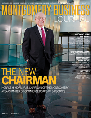 January 2013 MBJ, Montgomery Business Journal, Montgomery Chamber, Chamber Chairman Horace H. Horn Jr., PowerSouth Energy