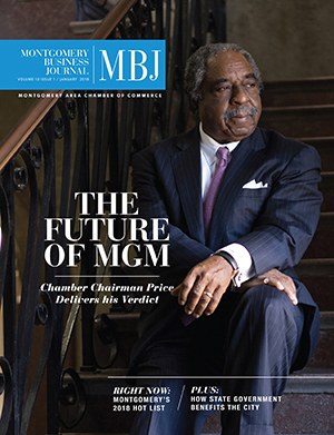 January 2018 MBJ, Montgomery Business Journal, Montgomery Chamber, Chamber Chairman Honorable Charles Price