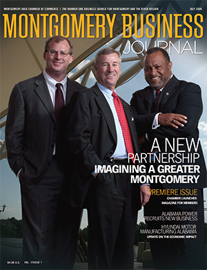 July 2009 MBJ, Montgomery Business Journal, Montgomery Chamber, Mayor Todd Strange, County Commission Chairman Elton N. Dean Sr., Daniel Hughes