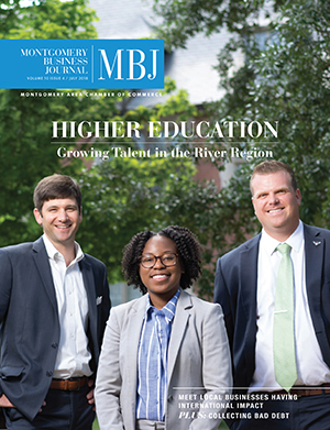 July 2018 MBJ, Montgomery Business Journal, Montgomery Chamber, Higher Education