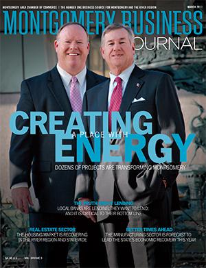 March 2011 MBJ, Montgomery Business Journal, Montgomery Chamber, Transforming Montgomery, Mayor Todd Strange, Jeff Downes