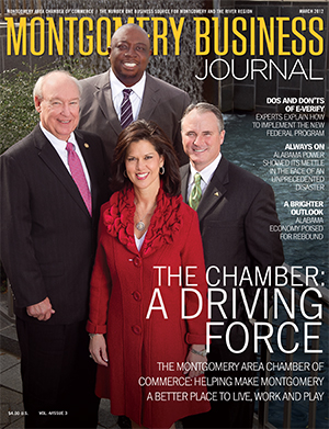 March 2012 MBJ, Montgomery Business Journal, Montgomery Chamber, Live Work and Play, Montgomery Alabama