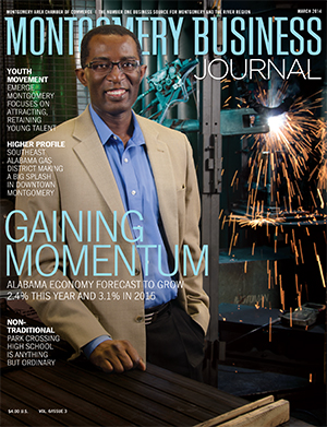 March 2014 MBJ, Montgomery Business Journal, Montgomery Chamber, Sam Addy