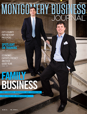 March 2015 MBJ, Montgomery Business Journal, Montgomery Chamber, Foshee Brothers