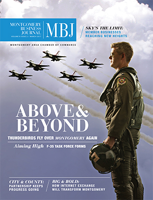 March 2017 MBJ, Montgomery Business Journal, Montgomery Chamber, Air Force, Thunderbirds