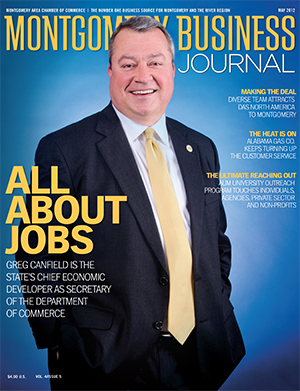 May 2012 MBJ, Montgomery Business Journal, Montgomery Chamber, Greg Canfield, All About Jobs