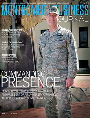May 2013 MBJ, Montgomery Business Journal, Montgomery Chamber, Lt. Gen. David Fadok, Air University, Air Force, Maxwell-Gunter AFB