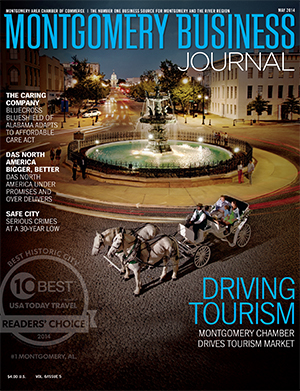 May 2014 MBJ, Montgomery Business Journal, Montgomery Chamber, Convention & Visitor Bureau, Tourism, Montgomery Alabama, Best Historic City