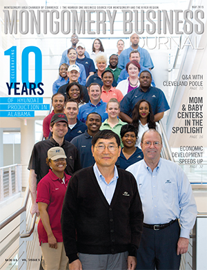 May 2015 MBJ, Montgomery Business Journal, Montgomery Chamber, Hyundai Motor Manufacturing Alabama Celebrates 10 Years