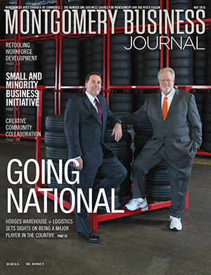 May 2016 MBJ, Montgomery Business Journal, Montgomery Chamber, Hodges Warehouse + Logistics
