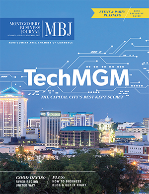 November 2017 MBJ, Montgomery Business Journal, Montgomery Chamber, TechMGM, Capital City
