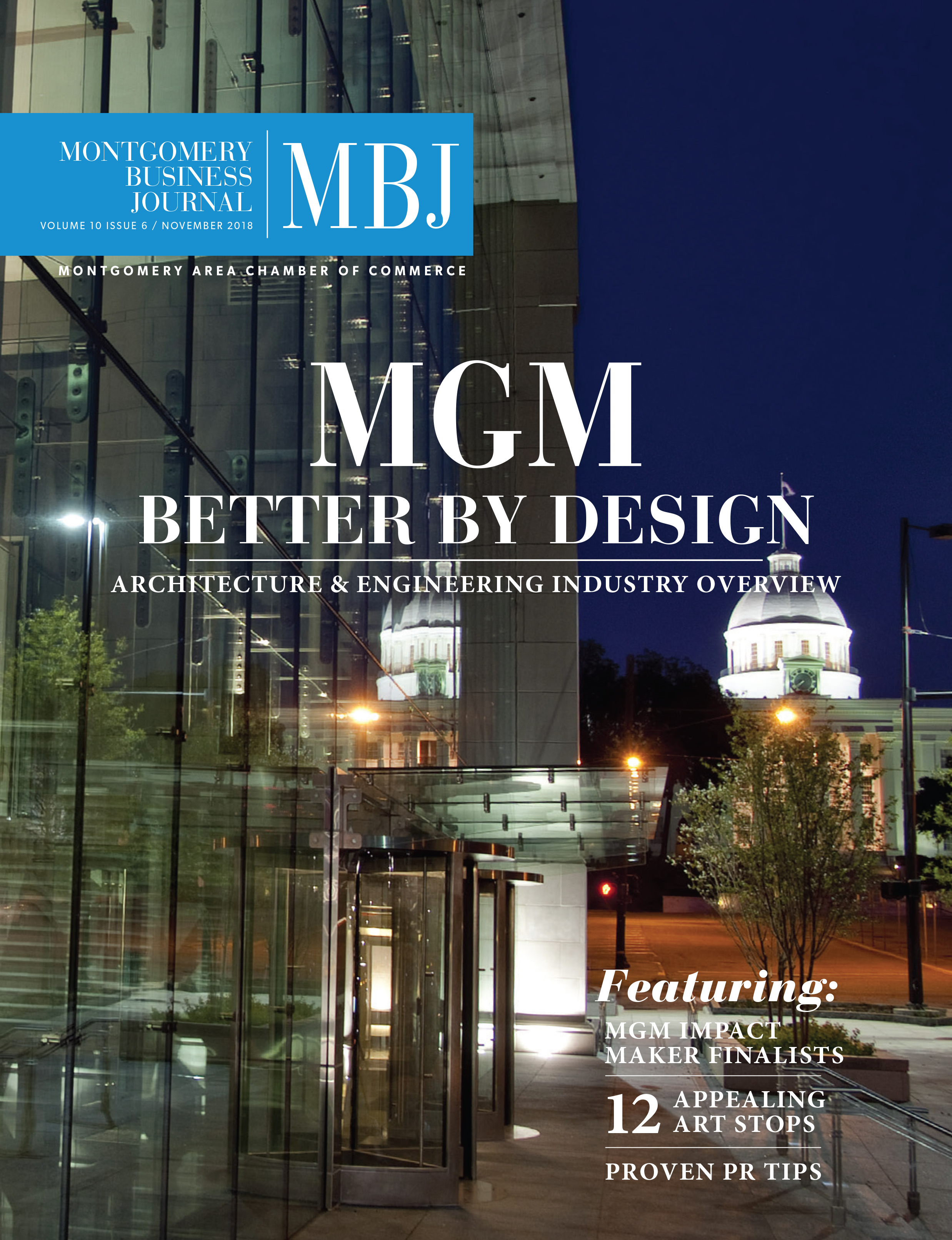 November 2018 Montgomery Business Journal, MBJ, Montgomery Area Chamber of Commerce, MGMChamber, Montgomery Chamber