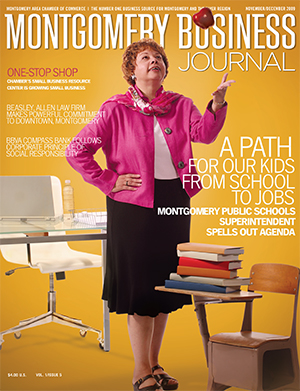 November/December 2009 MBJ, Montgomery Business Journal, Montgomery Chamber, Barbara Thompson