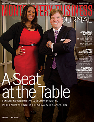 November/December 2012 MBJ, Montgomery Business Journal, Montgomery Chamber, EMERGE Montgomery, Jason Goodson, Victoria Belton