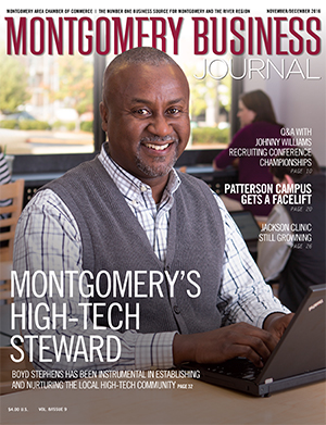November/December 2016 MBJ, Montgomery Business Journal, Montgomery Chamber, Boyd Stephens