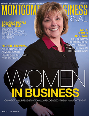 October 2010 MBJ, Montgomery Business Journal, Montgomery Chamber, Women In Business. Robin Barca