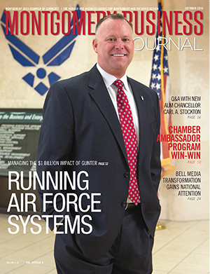 October 2016 MBJ, Montgomery Business Journal, Montgomery Chamber, Air Force, Maxwell-Gunter AFB