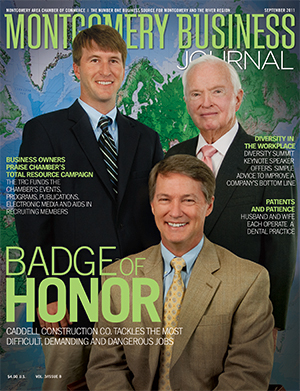 September 2011 MBJ, Montgomery Business Journal, Montgomery Chamber, Caddell Construction Co.