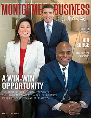 September 2015 MBJ, Montgomery Business Journal, Montgomery Chamber, Total Resource Campaign