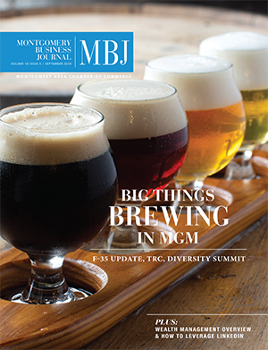 September 2018 MBJ, Montgomery Business Journal, Montgomery Chamber, Big Things Brewing in MGM, TRC, Diversity Summit