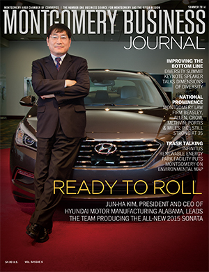 Summer 2014 MBJ, Montgomery Business Journal, Montgomery Chamber, Hyundai Motor Manufacturing Alabama