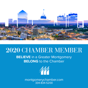 2020 Membership Decal, Montgomery Area Chamber of Commerce, Montgomery Chamber, MGMChamber,Montgomery Alabama