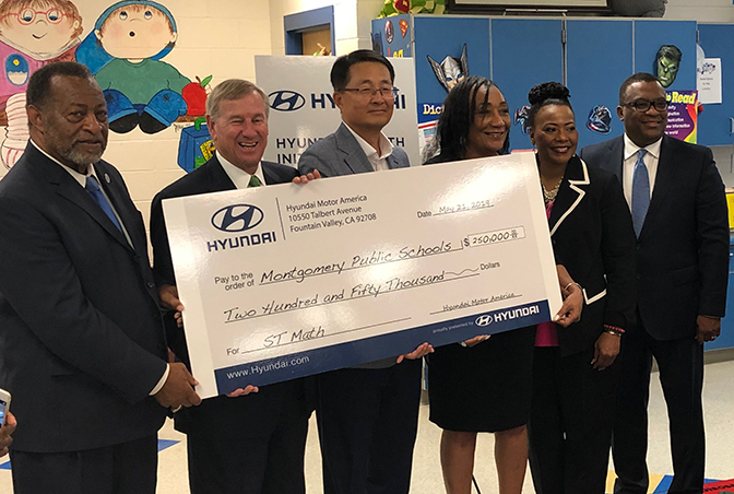 Hyundai Motor America Announces $250,000 donation to Montgomery Public Schools for STEM Education
