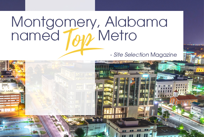 Montgomery Named A Top Metro Region by Site Selection Magazine