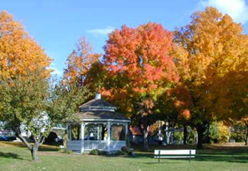 Image of a Gazebo in the Fall