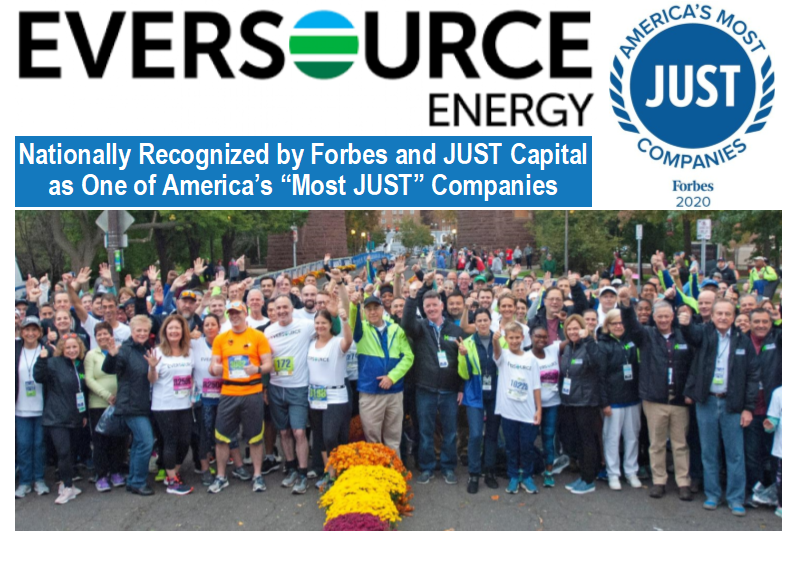 Eversource Nationally Recognized Most Just Company