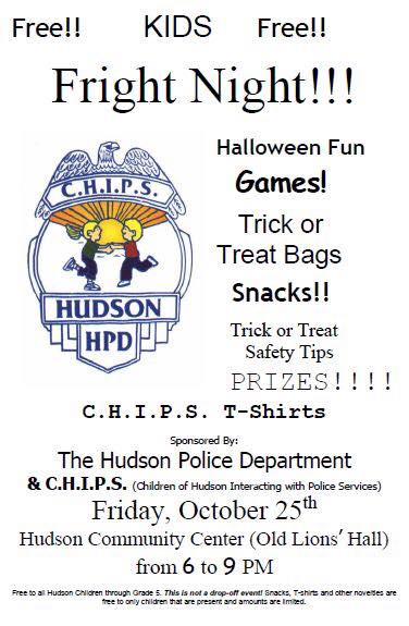 Hudson Police Fright Night