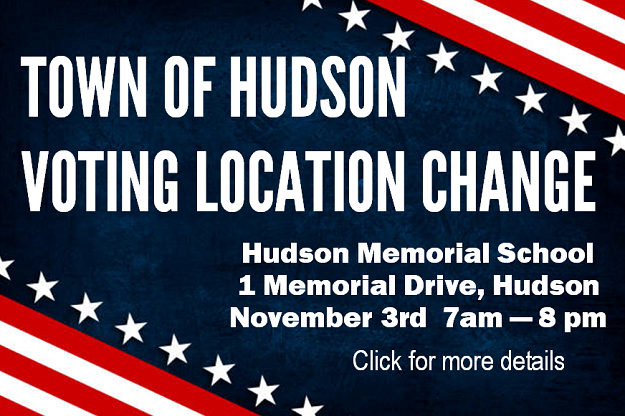 Town of Hudson Voting location change 2020