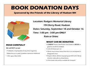 library book donations days