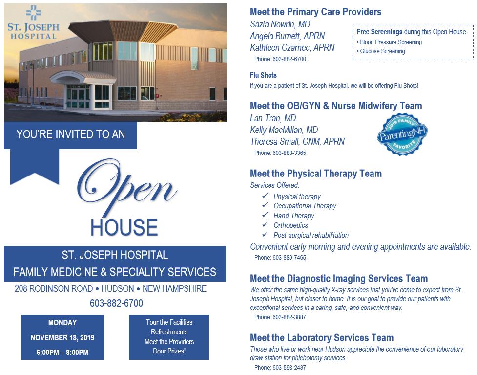 St Joseph Hospital Open House Hudson