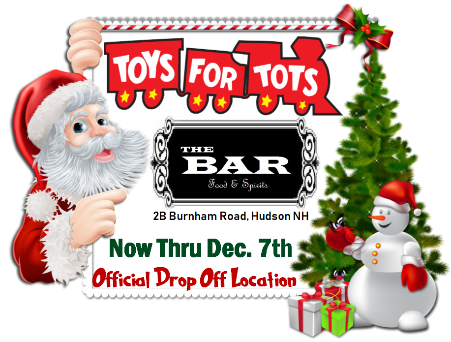 Official Toys for Tots Drop off at The Bar