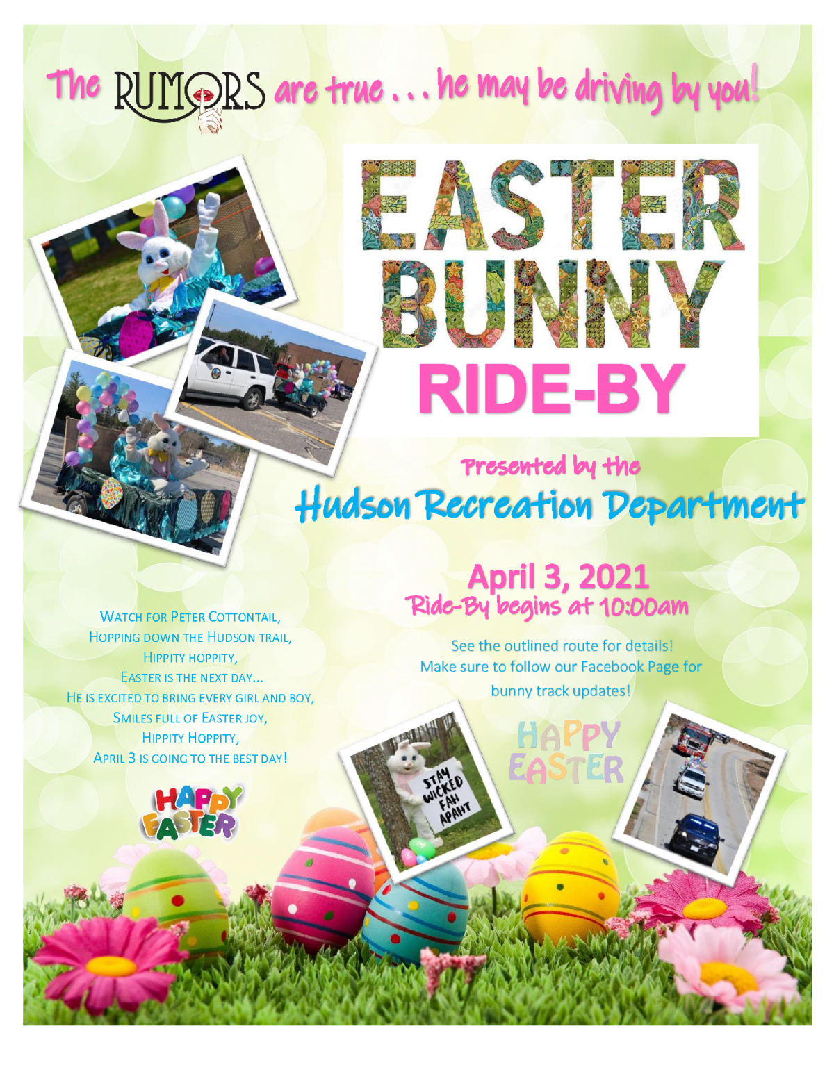 Easter Bunny Ride-by Hudson