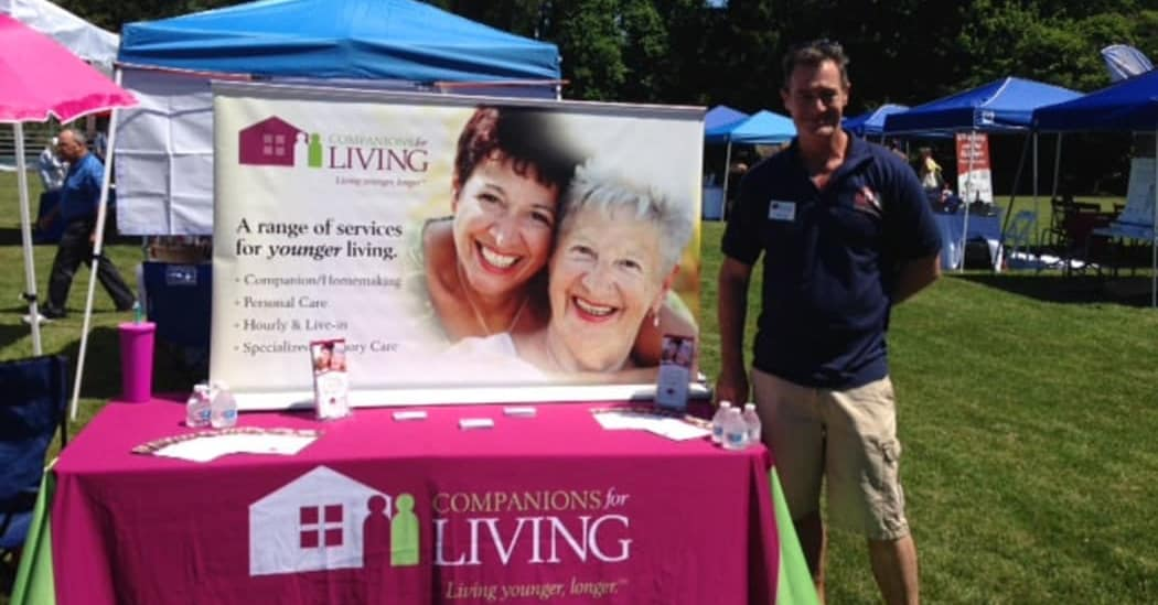 Companions for Living at the WH Chamber health fair