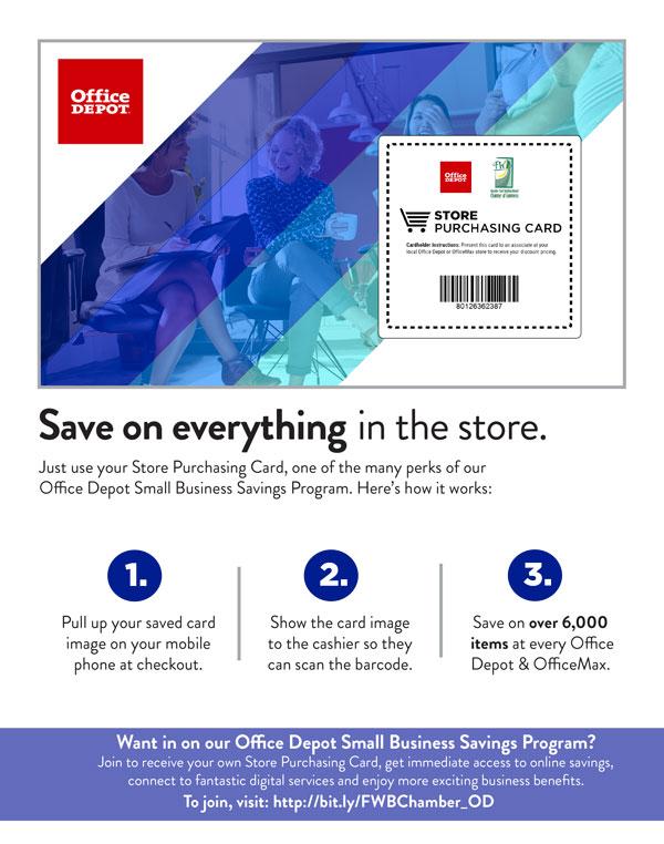 Office Depot Store Card Flyer