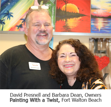 David Presnell and Barbara Dean, Owners of Painting With a Twist, Fort Walton Beach