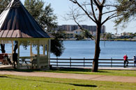 Fort Walton Landing is the venue for many local celebrations and family outings.