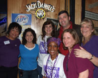 A group of Chamber members have fun at a local eatery.