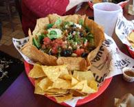A delicious taco salad