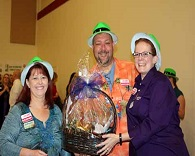 FWB Chamber Members winning their raffle prize at First Friday Coffee.