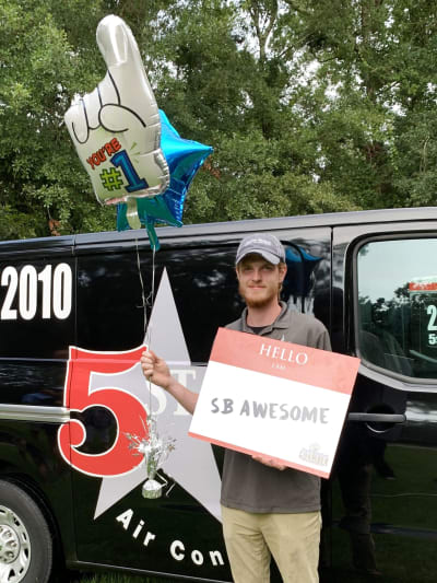 Brandon Perkins 2019 SBAwesome Winner (5 Star Air Conditioning)