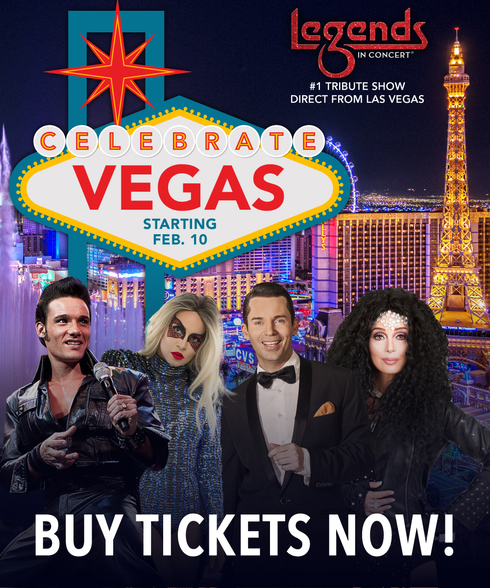 Direct From London back by popular demand & the all-new Celebrate Vegas headline new season in Coastal Alabama beginning January 15, 2021