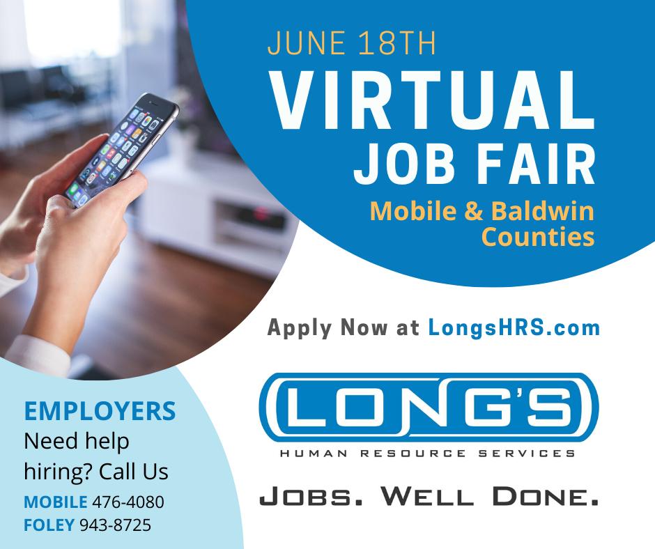 Long's Human Resource Services | Virtual Hiring Fair